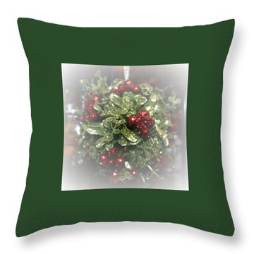 Throw Pillow featuring the photograph Misty Mistletoe by Ellen O'Reilly
