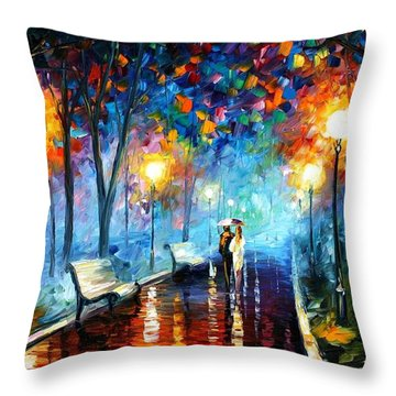Misty Mood Throw Pillow