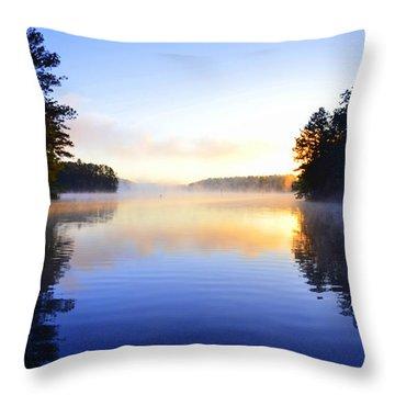 Misty Morining Throw Pillow