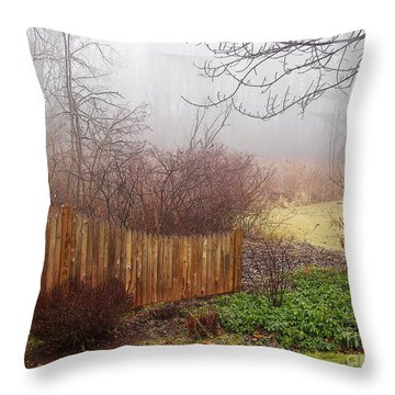 Throw Pillow featuring the photograph Misty Morn by Betsy Zimmerli