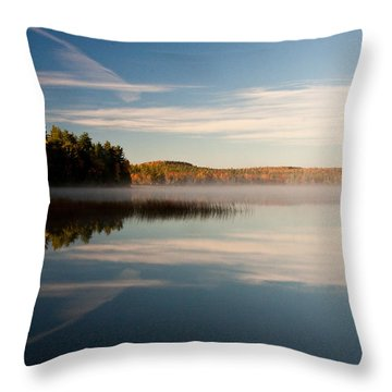Misty Morning Throw Pillow by Brent L Ander