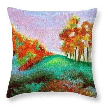 Misty Morning Throw Pillow by Elizabeth Fontaine-Barr