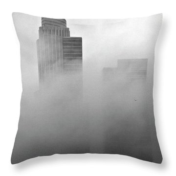 Misty Morning Flight Throw Pillow
