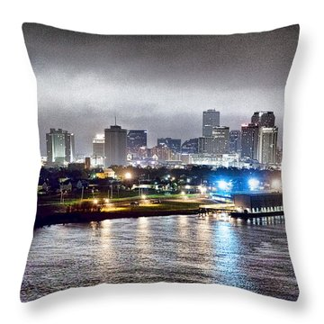 Misty Morning In New Orleans Throw Pillow by Dan Dooley