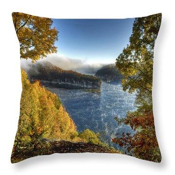 Misty Morning Throw Pillow by Mark Allen