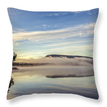 Misty Morning Throw Pillow by Mark Papke