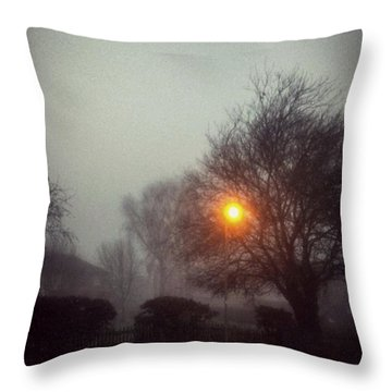 Misty Morning Throw Pillow by Persephone Artworks