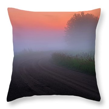 Misty Mornings Throw Pillow