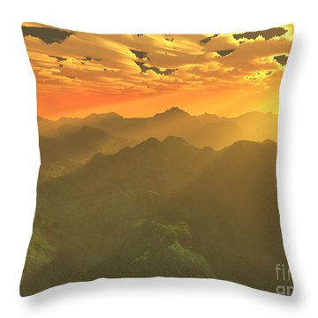 Misty Mornings In Neverland Throw Pillow by Gaspar Avila