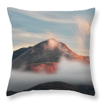 Throw Pillow featuring the photograph Misty Mountain by Grant Glendinning