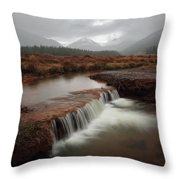 Misty Mountain Majesty  Throw Pillow