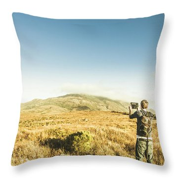 Misty Mountain Travels Throw Pillow
