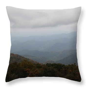 Misty Mountains More Throw Pillow