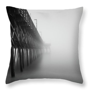 Misty November Morning II Throw Pillow