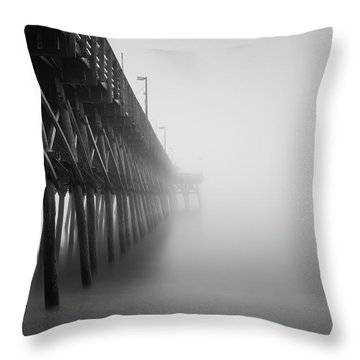 Misty November Morning II Throw Pillow
