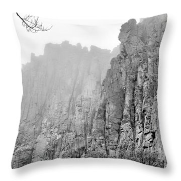 Misty Palisades Throw Pillow