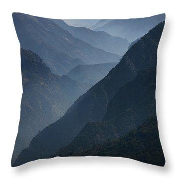Misty Peaks Throw Pillow