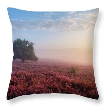Misty Posbank Throw Pillow