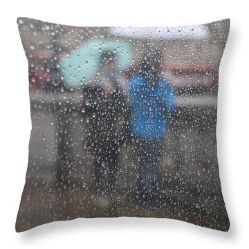 Misty Rain Throw Pillow