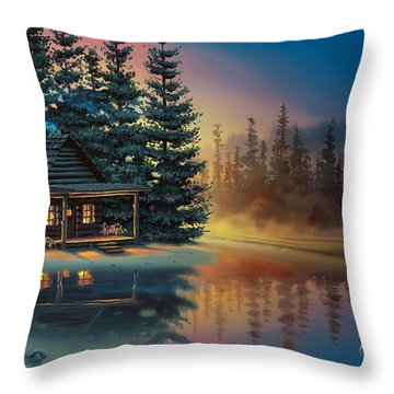 Misty Refection Throw Pillow