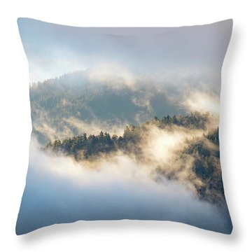 Throw Pillow featuring the photograph Misty Ridge 2 by Michael Hope