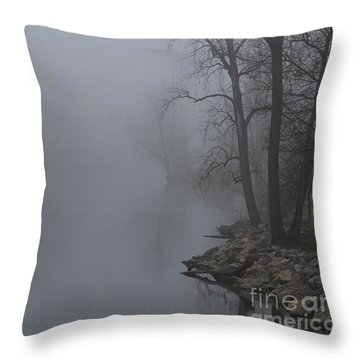 Misty River Throw Pillow