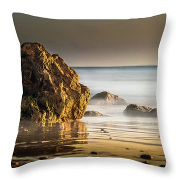 Misty Rock Throw Pillow