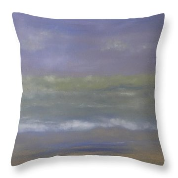 Misty Sail Throw Pillow