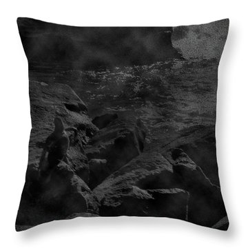 Misty Sea Throw Pillow