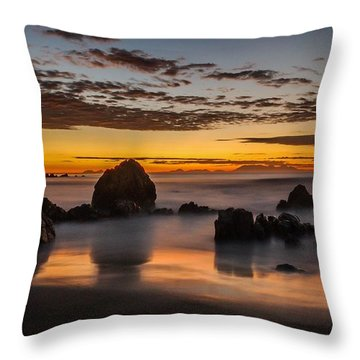 Misty Seascape Throw Pillow