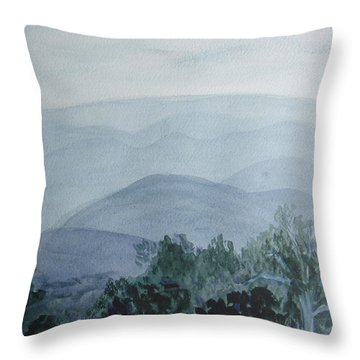 Misty Shenandoah Throw Pillow by Donna Walsh