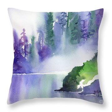 Misty Summer Throw Pillow