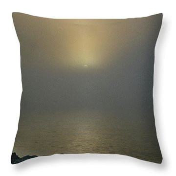 Misty Sunrise Morning Throw Pillow