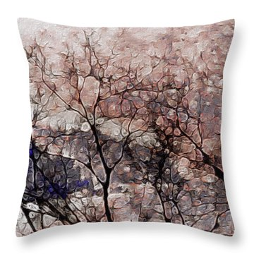 Misty Sunrise On Whidbey Island Throw Pillow