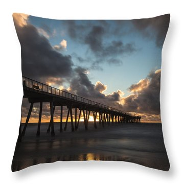 Misty Sunset Throw Pillow