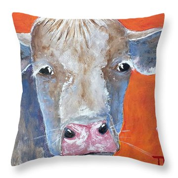 Misty Throw Pillow by Suzanne Theis