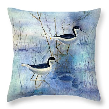Misty Swamp Throw Pillow
