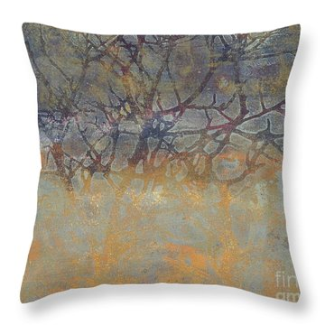Misty Trees Throw Pillow