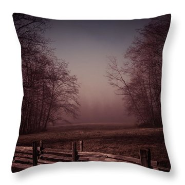 Misty Walk Throw Pillow