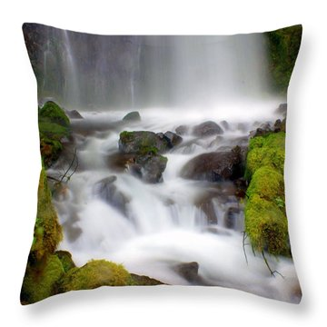Misty Waters Throw Pillow by Marty Koch
