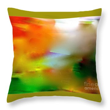 Misty Waters Throw Pillow by Patricia Schneider Mitchell