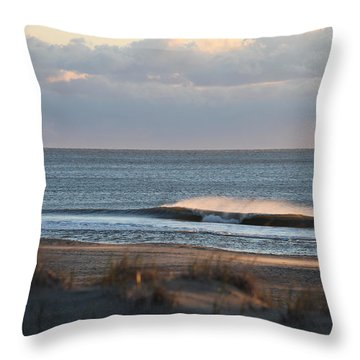 Misty Waves Throw Pillow