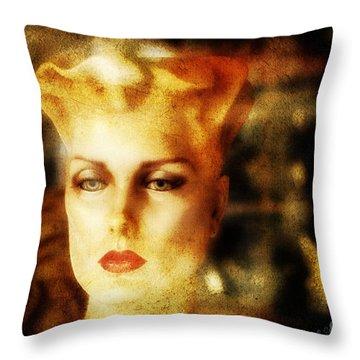 Misty Woman Throw Pillow