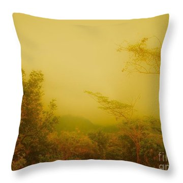 Misty Yellow Hue- El Valle De Anton Throw Pillow