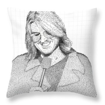 Mitch Hedberg In His Own Jokes Throw Pillow by Phil Vance