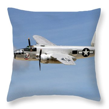 Mitchell In The Sky Throw Pillow