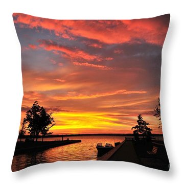 Mitchell State Park Cadillac Michigan Throw Pillow by Terri Gostola