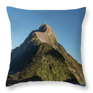 Throw Pillow featuring the photograph Mitre Peak Rahotu by Gary Eason