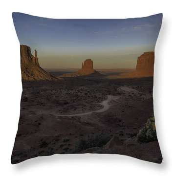 Mittens Morning Greeting Throw Pillow by Rob Wilson