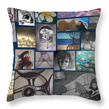Mix It Up Collage Throw Pillow